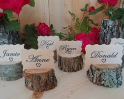 rustic place cards etsy Rustic Wedding Place Card Ideas 12 rustic place card holders, tree card holders, place holders, rustic wedding decor rustic wedding place card holders