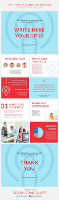 Powerpoint Flyer Template Flat Free Presentation Template PowerPoint Keynote And Google Slides 22