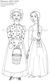 pioneer woman clothing drawing. pioneers dressing up through history coloring page pioneer woman clothing drawing h