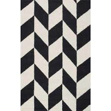 katte black and white 5 ft x 8 ft area rug