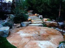 stone slab patio naturalistic landscape with flagstone patio and stone slab staircase rustic landscape indian sandstone paving slab sealer laying stone slab