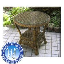 round wicker end table outdoor wicker end table small outdoor wicker table and chairs