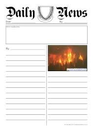 Example Newspaper Article Template Premium Download Writing A News