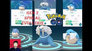 Spheal Evolution Chart Evolve Spheal Pokemon Go