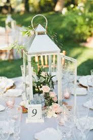 Lantern Wedding Centerpiece with Flowers - Deer Pearl Flowers