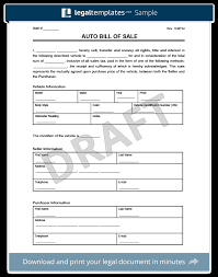 free bill of sale form for car bill of sale form create a free vehicle car template