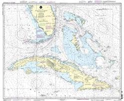 Noaa Navigation Charts Noaa Chart 11013 Straits Of Florida And Approaches