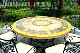 round mosaic table outdoor round table top close round marble stone top patio outdoor mosaic table