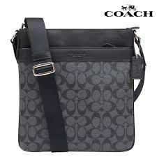 coach coach men s bags shoulder bag f71877 charcoal black