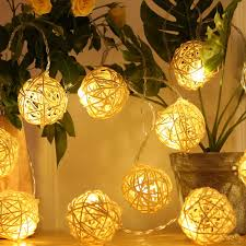 Mini Globe String Lights Battery Operated Hyal Luz Battery Operated Led String Lights 16 4ft 20 Globe Rattan Balls Christmas Decoration Light Indoor Fairy String Lights Decorative For Bedroom