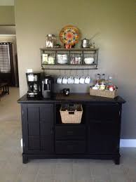 Give your dining room buffet new life by transforming it into a coffee bar, or look for an antique buffet to add shabby chic style. Our Coffee Station Hobby Lobby Shelf Arts Crafts Buffet Table Costa Rican Decor Coffee Station Diy Coffee Station Home Coffee Stations