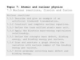 topic 7 atomic and nuclear physics 7