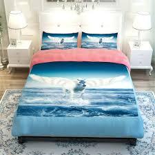 Duvet Covers:Horse Print Single Duvet Cover Q 3d Bedding Set White Horse  Fire Bedding