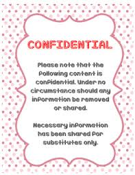 Confidential Information Cover Sheet By Nyc Zizi Tpt