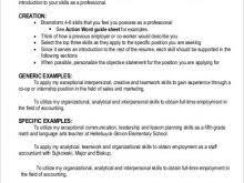 ... Resume Statement About Teamwork Enjoyable Design 19 Skills For Template  Billybullock Us ...