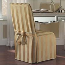 united curtain madison dining room chair cover 19 by 18 by gold