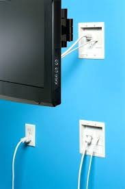 wall mount tv recessed power