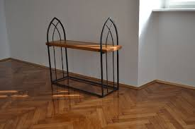 wrought iron bench u201cgothicu201d wood and iron furniture41 wood