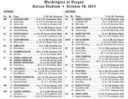 Nba Depth Charts 2014 Uw Depth Chart And Games Notes For Oregon Husky Football