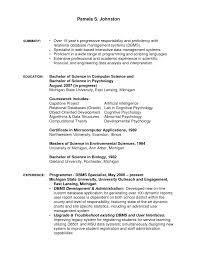Sample Chemistry Resume Science Resume Sample Resume Templates