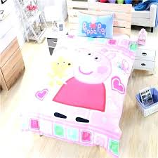 pig bedding set sets pink for girls duvet cover single with regard to twin comforter ideas pig single bed duvet cover set blue info peppa twin bedding