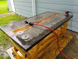 concrete and wood furniture. Picture Of Finishing The Concrete And Wood Furniture