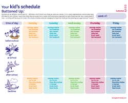 schedule creater daily schedule maker for kids printable editable blank