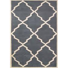 hand tufted world classic bluish grey wool rug 8 x 10