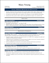 Sample Resume For Hr Assistant Fresh Graduate Human Resources