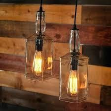 wine bottle pendant lights farm pulley lamp light kit wine bottle pendant lights