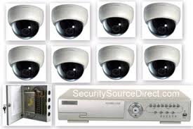 8camera cctv security system with dvr power supply