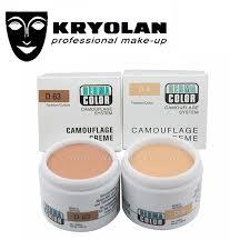 kryolan german professional brand dermacolor camouflage creme 30g highly pigmented makeup cover face concealer cream palette