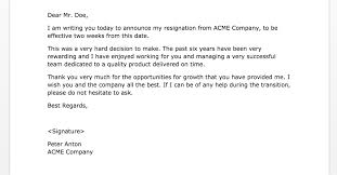 Sample Notice Letters Two Weeks Notice Letters 2 Samples