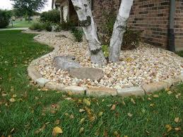 decorative border edging landscaping stones around trees round designs