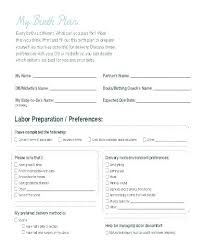 Simple Birth Plan Examples Home Birth Plan Template Printable Examples Simple Free Home