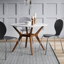 42 round dining table elegant emmond mid century 42