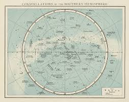 Star Charts For Southern Hemisphere Southern Hemisphere Constellation Night Sky Star Chart The Times 1900 Map