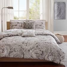 com madison park pure mpp12 019 5 piece ronan cotton duvet madison park mlle faux fur 4 piece duvet cover set