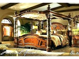 Cheap Canopy Bedroom Sets Queen Size Black Bedroom Sets With Black ...