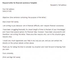 Request Letter For Financial Assistance Request Letter Sample