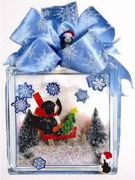 nicole crafts penguin diorama glass block
