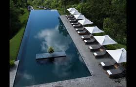 Interesting Residential Infinity Pools At Pool On Edge Of Jungle With Concept Design