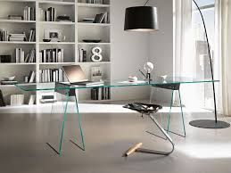 stylish modern glass computer desk  thediapercake home trend