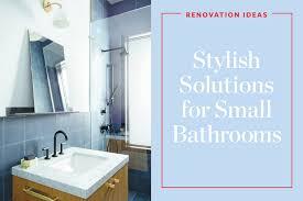 ideas for renovating a small bathroom. stylish remodeling ideas for small (even tiny) bathrooms renovating a bathroom