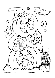 Small Picture pumpkins coloring page for kids printable free Halloween