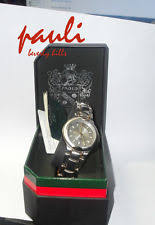 paolo gucci watch paolo gucci nibwt mens watch 2 tone gray round face warranty 5 yrs