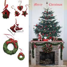 Christmas Deco Tartan Schottisch Englisch
