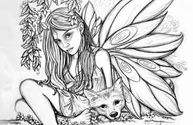 Coloring Pages For Girls Hard Fairy Just Colorings