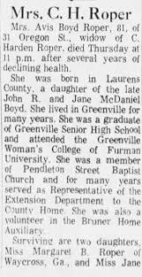 Obituary for G. Roper (Aged 81) - Newspapers.com
