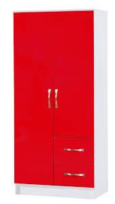 red high gloss furniture. Red \u0026 White Combi Wardrobe 2 Door Drawer - Marina High Gloss Bedroom Furniture H